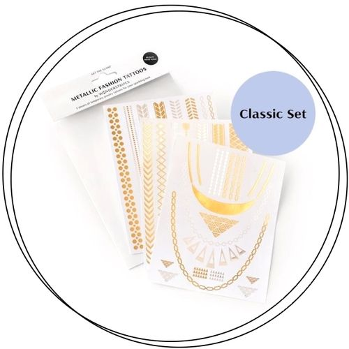 Wonderstripes Cosmetics- METALLIC FASHION TATTOOS Classic