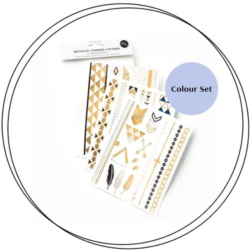 Wonderstripes Cosmetics - METALLIC FASHION TATTOOS Colour
